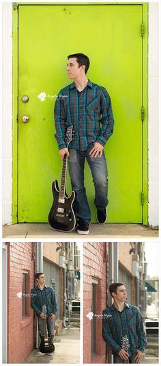 DFW Senior photographer, Senior portrait ideas, senior portrait photography, senior images, guitar, creative, music themed, senior session, boy pose, male senior, guy senior, senior poses, creative, unique, cute guy senior pictures, downtown