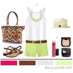 Neon + Tribal..., created by daniellej1116 on Polyvore