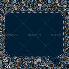 Social Media Seech Bubble Vector #GraphicRiver Social Media Speech Bubble. Seamless Vector Pattern - vector illustration, only simply linear and radial gradients used - no blends, gradient mesh used - vector available CMYK ready for print - pack include version AI, CDR, EPS, JPG Keywords: information, messaging, network, partnership, people, person, silhouette, society, sociology, symbol, team, teamwork, technology, work, think, talk, gossip, text TECHNOLOGY MEDIA ILLUSTRATION MORE VECTOR…