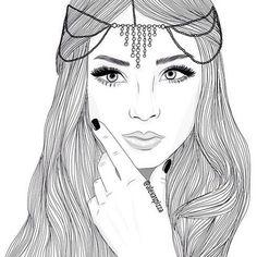 pin Drawn girl cute #12