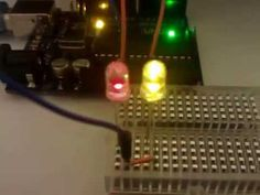 Arduino Code: /* 2 LED Christmas Lights This example shows how to fade two LED's on pin 11 & 10 using the analogWrite() function. How To Fade, Led Christmas Lights, Electronics Projects, Arduino, Light Bulb, Coding, Tech, Technology, Lightbulbs