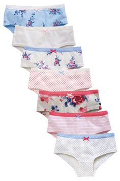 Buy Seven Pack Floral Hipsters (3-16yrs) from the Next UK online shop