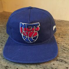 separation shoes 823c1 dae9a New Jersey Nets NBA Throwback Hardwood Classics New Era SnapBack Hat has  been used but not abused showing typical signs of age and wear including  some minor ...