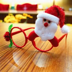 Christmas Decorations For Home 2017 Decor New Year Glasses Gifts For Children Santa Claus Reindeer Rabit Christmas Ornaments