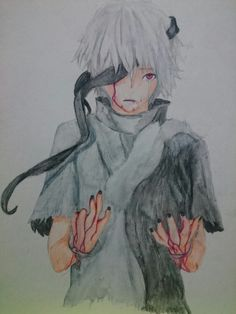 Anime--- Kaneki Ken from Tokyo Ghoul ||Art||
