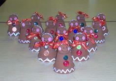 Fun Gingerbread people clay pots