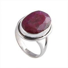 EXCLUSIVER 925 STERLING SILVER 5.82g RUBY FANCY RING JEWELLERY  #DSJ #RING