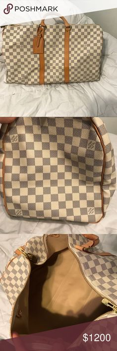 Louis Vuitton Keepall Beautiful Louis Vuitton Keepall in great condition. Just don't use it anymore. The handles have some marks but it's still in great condition. Posh will authenticate over $500. Price is pretty firm Louis Vuitton Bags