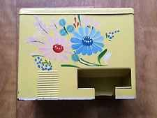 BEAUTIFUL 1950s VINTAGE YELLOW RANSBURG HAND PAINTED MATCH SAFE HOLDER KITCHEN
