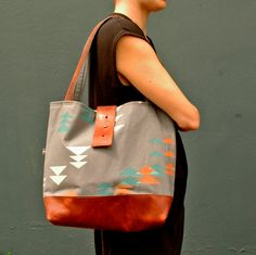 1e5ad7e743 Ann Shoulder Bag in grey with Alpine print by appetite on Etsy, $88.00
