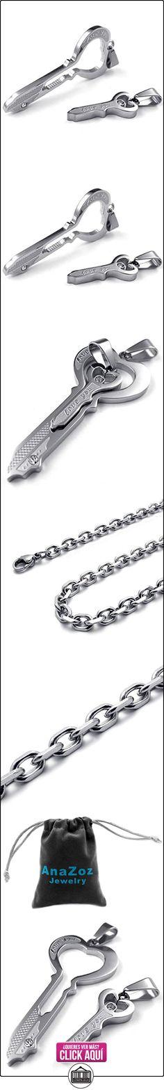 8e9baf1ad29b AnaZoz Joyería de Moda Collar de Hombre Acero Inoxidable Cadenas Collar  Colgante Para Mujer Hombre Amantes