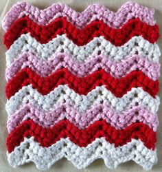 Valentine Ripple Dishcloth FREE Crochet Pattern