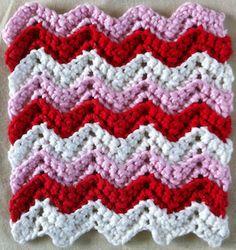 Valentine Ripple Dishcloth FREE Crochet Pattern
