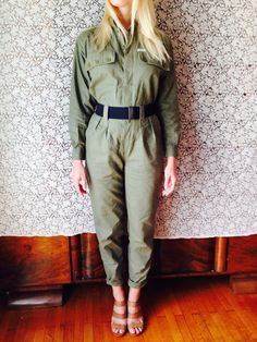 The Mechanic Jumpsuit/Army Romper/Bohemian by LydiaLoveVtg on Etsy