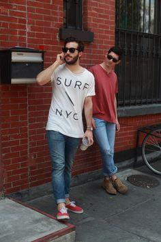 Alex and Carlo in Brooklyn.