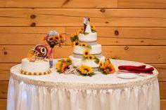Rachel & Adam's wedding at Ski Liberty  #wedding #weddingcake