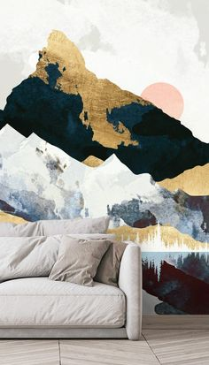 Shop this beautiful Winters Day mural by SpaceFrog Designs. Designed by SpaceFrog Designs, this gorgeous work of art would make a fabulous feature wall for a calming bedroom or a relaxed lounge. Pull out the colours in the design to inspire the rest of your room's décor. Imagine sleek golden lamps, pastel fabrics and marble-topped furniture – beautiful! We have classic or premium paste the wall or textured peel and stick. Discover more from Wallsauce! #wallpaper #homedecor