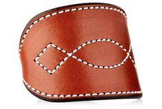 Hunter Stitch Cuff, Chestnut/Teal