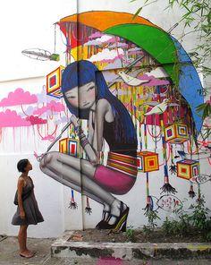 O artista francês Seth Globepainter transpassa um lado mais humano em suas obras gigantes inspiradas em comunidades. Arte feita em Ho Chi Minh City, Vietnã. #StreetArt #Graffiti