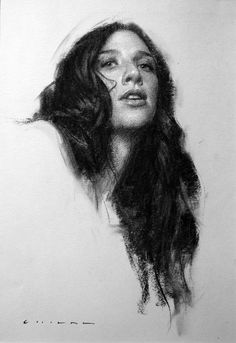 "Allure, 16""x11"" charcoal drawing by Casey Childs, 2015."