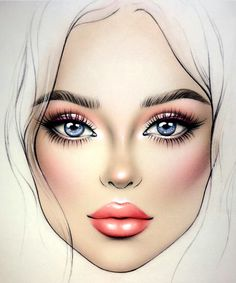 makeup charts ideas face make 2019 for up 58 Makeup face charts ideas make up 58 Ideas for 2019 Makeup face charts ideas make up 58 Ideas for can find Mac face charts and more on our website Fashion Illustration Face, Makeup Illustration, Illustration Mode, Le Contouring, Mac Face Charts, Face Template, Makeup Face Charts, Makeup Drawing, Face Sketch