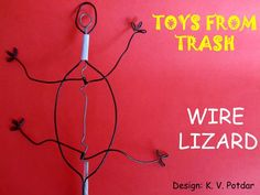 This toy is based on a double crank. On rotating the crank all the four legs of the lizard move in unison imitating the walk of a real lizard as if it was cl. Diy Handmade Toys, Diy Toys, Science Toys, Science For Kids, Toys From Trash, Simple Machines, Diy Home Crafts, School Projects, Cool Toys