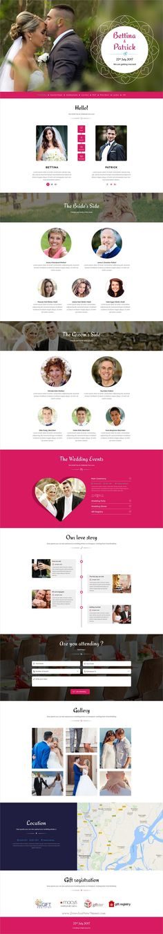 Wedding invitation is an elegant and modern design responsive #HTML #bootstrap template for young #couples who are looking for something different then standard online invitation cards websites download now➩ https://themeforest.net/item/wedding-invitation-responsive-html-template/19158839?ref=Datasata