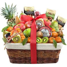 From: $99.95  Paradise Tropical Fruit, Nuts and Cheese Basket: It's a feast in paradise, complete with lots of fruit varieties, 2 artisan cheeses and assorted nuts. Fathers Day Baskets, Champagne Gift Baskets, Cheese Baskets, Assorted Nuts, Fruit Gifts, Artisan Cheese, Pinterest Projects, Corporate Gifts, Baby Gifts