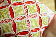 Cathedral Windows Quilt Block Pillow