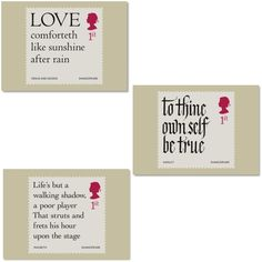 Postcards Shakespeare Stamp Cards All Ten Special Stamps Have Been Reproduced From The Original Artwork