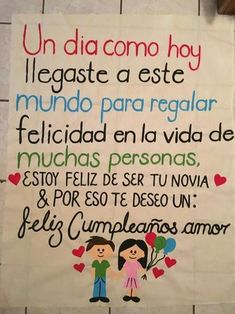 Feliz cumple mi amor - Determined Tutorial and Ideas Birthday Message For Friend, Birthday Quotes For Best Friend, Birthday Messages, Best Friend Quotes, Bf Gifts, Love Gifts, Boyfriend Gifts, Messages For Friends, Love Messages