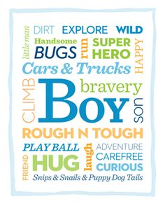 Put this free printable in a boy's bedroom for a quick (and AWESOME) art boost! Big Boy Bedrooms, Kids Bedroom, Bedroom Art, Nursery Art, Bedroom Ideas, Minis, Toddler Rooms, Subway Art, Boy Room