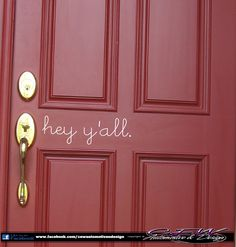 Oooh, I love it!  home front door vinyl lettering wall vinyl by CEWgraphicsNdesigns, $6.00