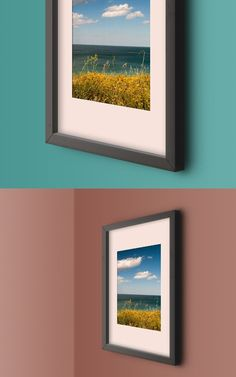 Free Wall Photo Frame Mockup Template