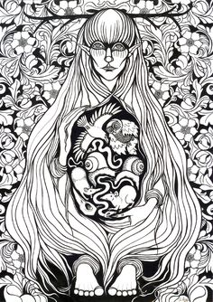 In the Finnish mythology  the Nine diseases are the sons of Loviatar, the blind daughter of Tuoni.She is impregnated by the wind. According to the version told in the Kalevala they are Pistos (consumption), Ähky (colic), Luuvalo (gout), Riisi (rickets), Paise (ulcer), Rupi (scab), Syöjä (cancer), and Rutto (plague). The ninth, a witch and the worst of all, remains unnamed. He, the personification of envy, is banished by his mother to become the scourge of mankind.
