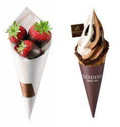 Godiva ice cream and chocolate dipped strawberries via @eatlovesavor