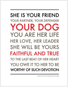 She Is Your Friend | Dog Quote Poster • Visit our poster store at Rover99.com