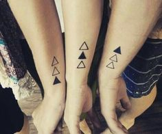 geometric sibling tattoo inspo