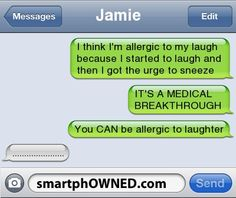 you CAN be allergic to laughter