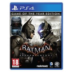 Batman: Arkham Knight - Game of the Year Edition [PlayStation Batman Arkham Knight Ps4, Batman Ps4, Batman Ninja, Batman Arkham City, Batman Comics, Batman And Superman, Playstation Games, Xbox One Games, Ps4 Games