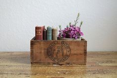 Old Wooden Rustic Bulldog Box by aneedleinthehay on Etsy
