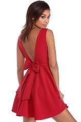 Red Playful Ties Dress