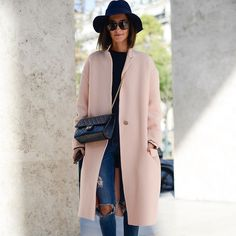 Street Style from Paris Fashion Week #coat #winter #autumn