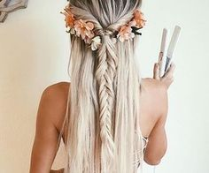 awesome boho chic prom hair...