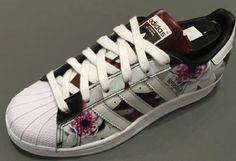Adidas Originals Superstar Lotus Print Running Sneakers AF5582