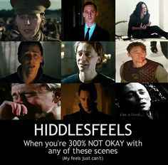 Tom Hiddleston ~ Hiddlesfeels