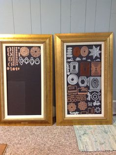 """Copied someone's idea on a facebook page I'm part of for stampers.  I used frames I had, purchased 3 packs of the magnetic vent cover sheets, 8 x 15, 3 in a pack for $5.  I used my 9"""" xyron to put the adhesive on the back of the sheets and mounted to the picture frame backing."""
