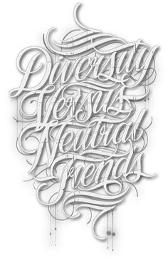 DVNT Clothing by Mateusz Witczak, via Behance (Tshirt graphic for DVNT Clothing Australia - Handlettered and vectorized in final stage)