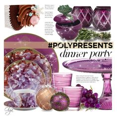 """""""#PolyPresents: Dinner Party"""" by olga1402 ❤ liked on Polyvore featuring interior, interiors, interior design, home, home decor, interior decorating, Asprey, Roberto Cavalli, Martha Stewart and Sur La Table"""