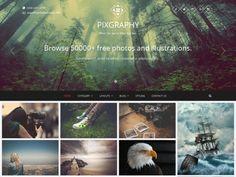 Fotografie, Portfolio — gratis WordPress thema's